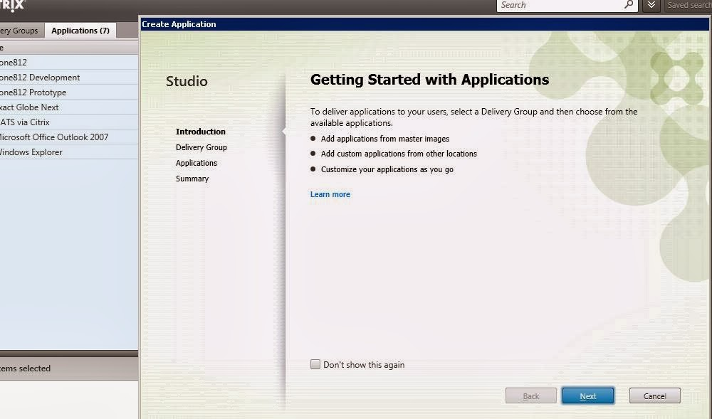 Citrix XenDesktop 7.1 App Edition – Publishing applications
