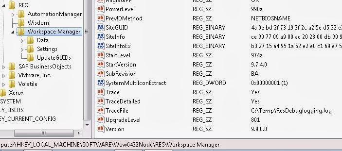 Debugging RES Workspace Manager