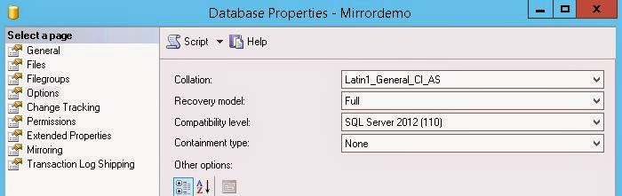 Creating a mirror for your Citrix database