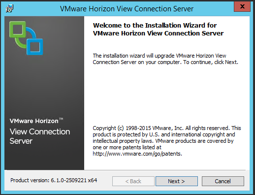 VMware Horizon View 6.0x to 6.1 upgrade: Connection server