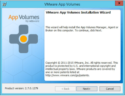 VMware App Volumes series : Installation of the manager