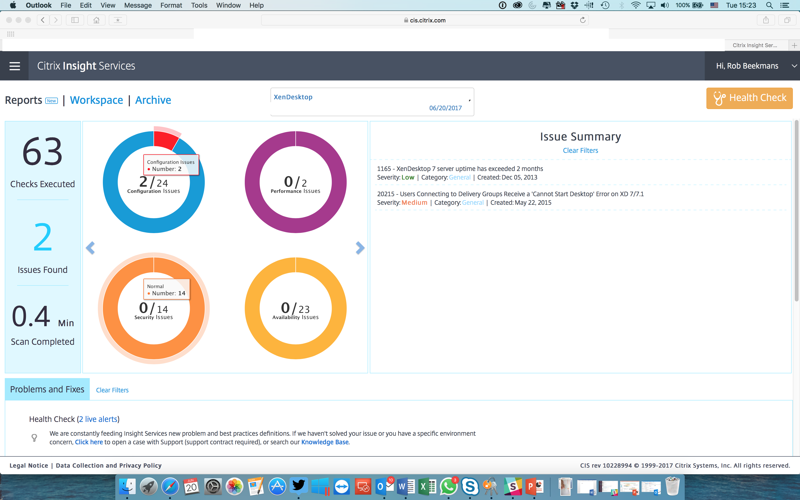 Citrix Insight service: TaaS and Scout, reporting feature and feature request