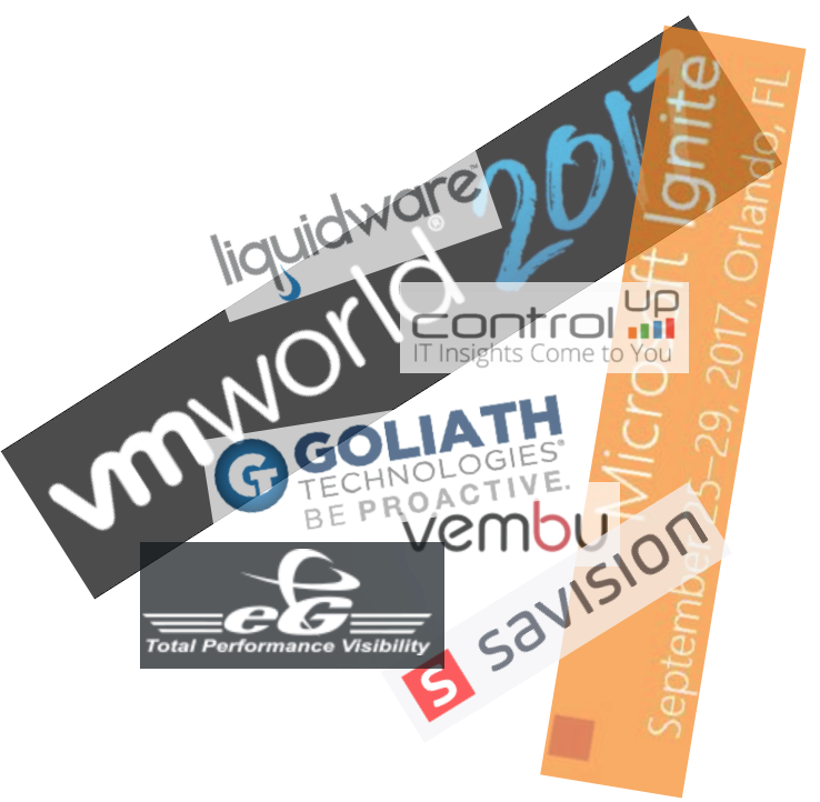VMware VMworld and Microsoft ignite coming up, meet my blog sponsors on the exhibition floor